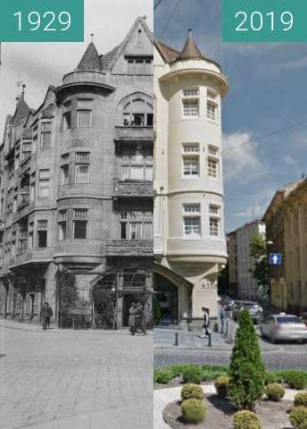 Before-and-after picture of Rolindustria S.A. Lwów between 1929 and 2019