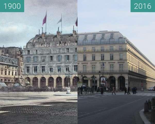 Vorher-Nachher-Bild von Grands Magasins du Louvre zwischen 1900 und 27.02.2016