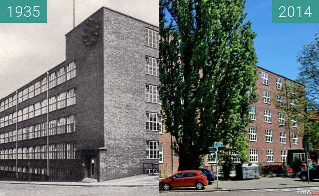 Before-and-after picture of US Wydział Nauk Przyrodniczych between 1935 and 2014
