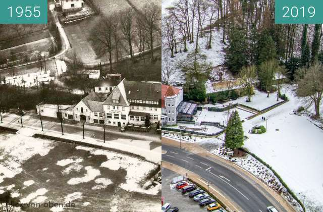 Before-and-after picture of Bad Iburg between 1955 and 2019-Feb-03