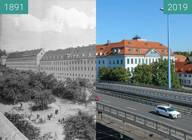Before-and-after picture of Frankesche Stiftungen between 1891-Jun-20 and 2019-Jul-23