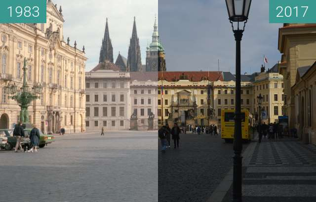 Before-and-after picture of Prag, Burg between 1983 and 2017-Nov-15