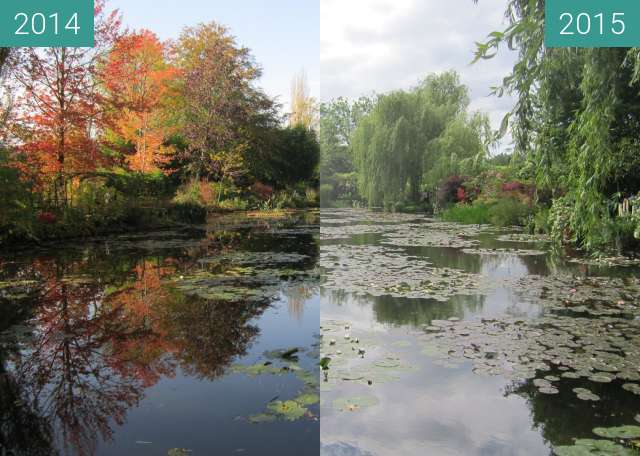 Before-and-after picture of Giverny between 2014-Nov-01 and 2015-May-25