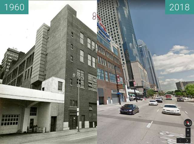 Before-and-after picture of Dixie Terminal between 1960 and 2018