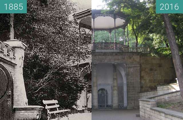 Before-and-after picture of Yessentuki between 1885 and 2016-Aug-02