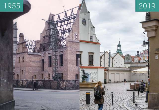 Before-and-after picture of Stary Rynek, Waga Miejska between 1955 and 2019-May-23