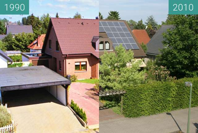 Before-and-after picture of Haus in der Altenburger Straße between 1990-Sep-16 and 2010-Jun-05