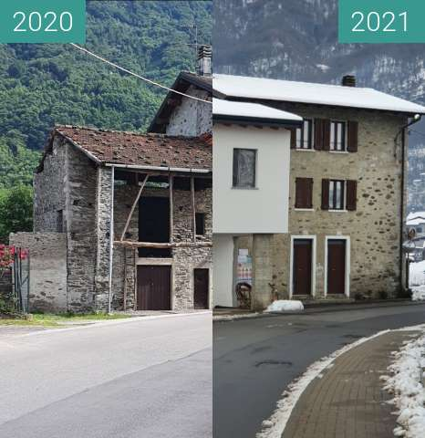 Before-and-after picture of House in Piantedo between 2020-May-26 and 2021-Jan-02