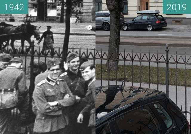 Before-and-after picture of Sophie Scholl in München (1) between 1942-Jul-23 and 2019-Mar-06