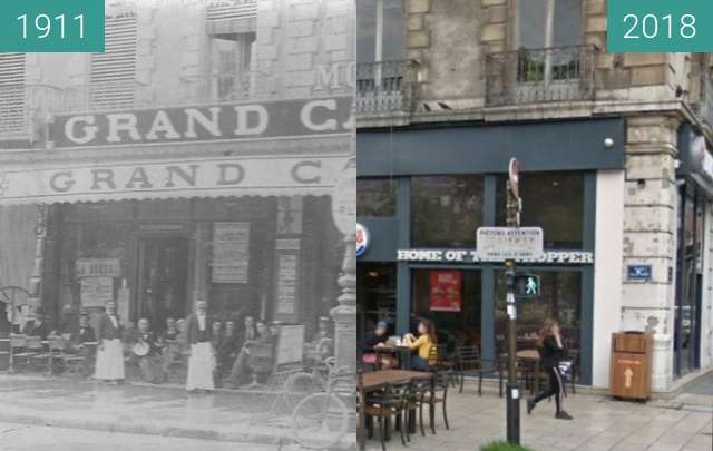 Before-and-after picture of Grenoble | Grand Café (1911) between 1911 and 2018-Jun-08