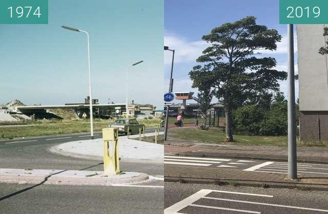 Vorher-Nachher-Bild von Huiswaarderbrug zwischen 1974 und 09.07.2019