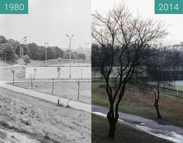 Before-and-after picture of Towarzystwo Krzewienia Kultury Fizycznej Winogrady between 1980-Dec-28 and 2014-Dec-28