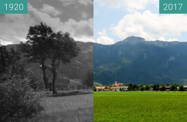 Before-and-after picture of Aschau im Chiemgau vor der Scheibenwand between 1920 and 2017-Jun-03