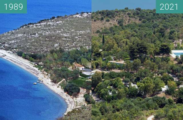 Before-and-after picture of NAYTILUS between 1989 and 2021-Jun-20