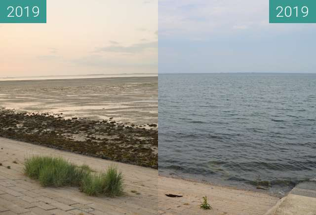 Before-and-after picture of High and low tide between 2019-Jun-03 and 2019-Jun-04