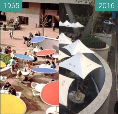 Before-and-after picture of Australia Square between 1965 and 2016