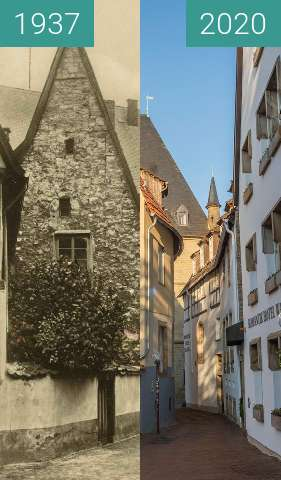 Before-and-after picture of Kleine Gildewart between 11/1937 and 03/2020