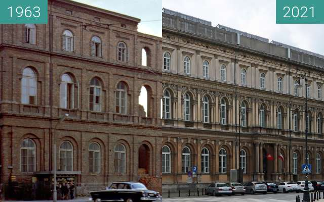 Before-and-after picture of Państwowe Muzeum Etnograficzne between 1963 and 2021-Jun-26