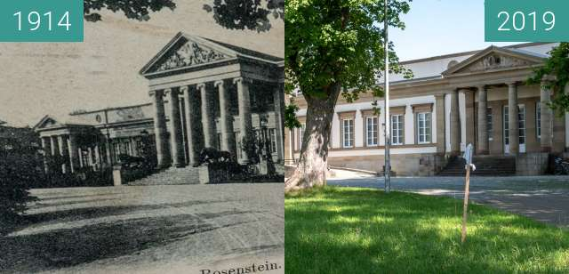 Before-and-after picture of Stuttgart - Schloss Rosenstein between 1914 and 2019-Aug-04