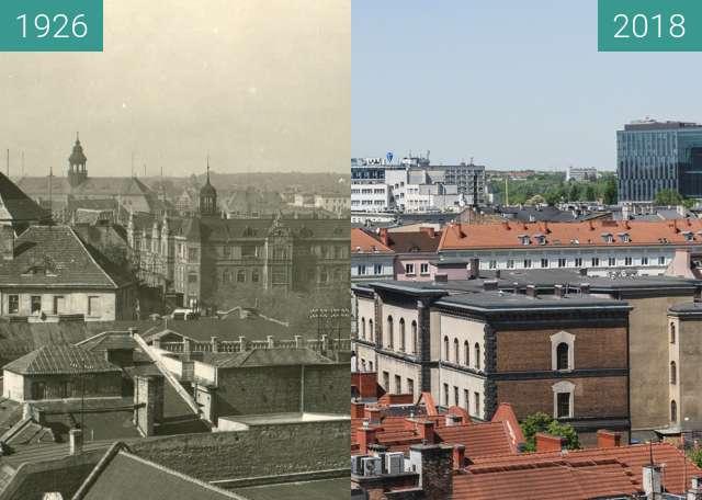 Vorher-Nachher-Bild von Widok z wieży ratuszowej zwischen 1926 und 2018