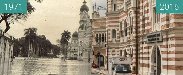 Before-and-after picture of National Textile Museum (Flood Desaster) between 01/1971 and 2016-Jul-25