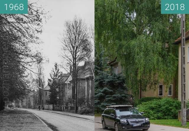 Vorher-Nachher-Bild von Ulica Litewska zwischen 1968 und 2018