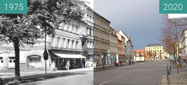 Before-and-after picture of Pirna | Breite Straße between 1975 and 2020-Jan-29