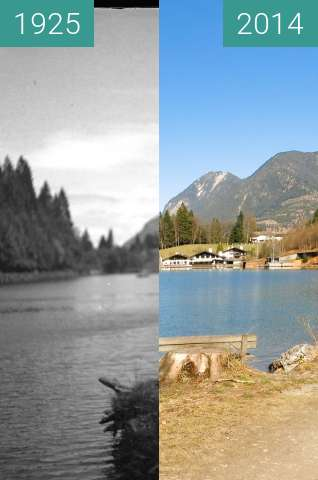 Before-and-after picture of Am Rießersee - oberhalb Garmisch-Partenkirchen between 1925 and 2014-Mar-20