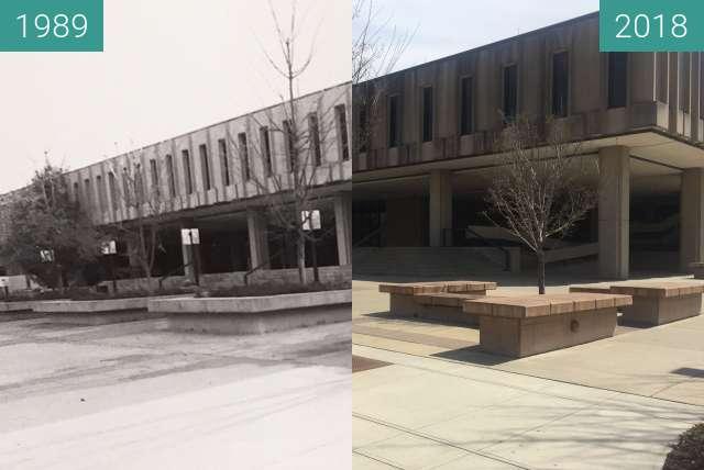 Vorher-Nachher-Bild von Wescoe Hall - 1989 to 2018 zwischen 1989 und 17.04.2018
