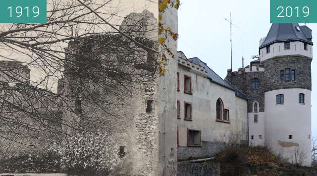 Before-and-after picture of Doubravka between 1919 and 2019-Nov-25