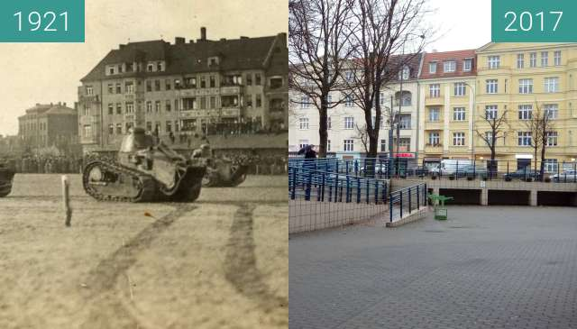 Before-and-after picture of Królowej Jadwigi between 1921 and 2017-Dec-24