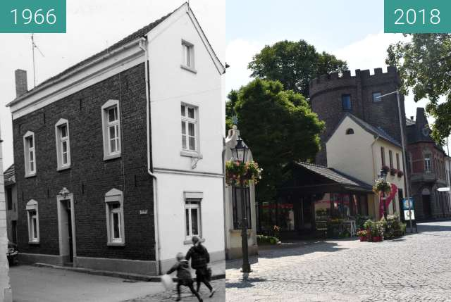 Before-and-after picture of Petertor, ehemaliges Stadtor between 1966 and 2018-Jul-12