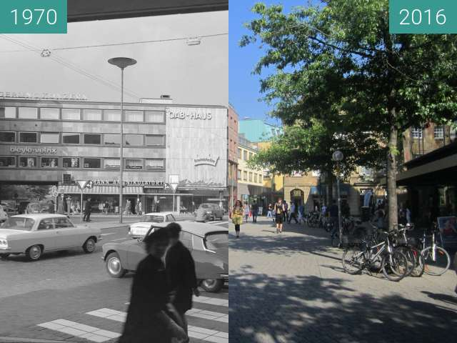 Before-and-after picture of Nikolaiort between 1970 and 2016-Aug-31