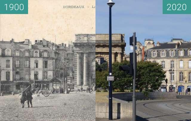 Vorher-Nachher-Bild von Porte de Bourgogne zwischen 1900 und 07.2020