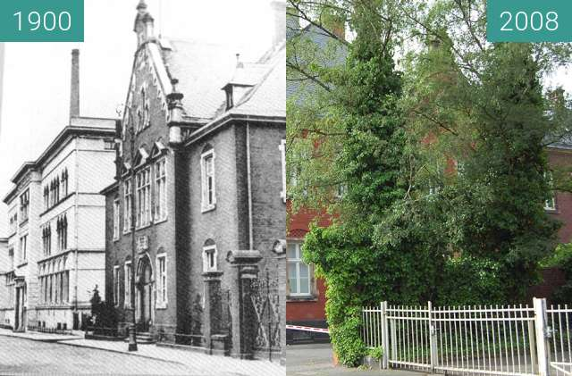 Before-and-after picture of Stolberg Rhld Amtsgericht between 1900 and 2008-Jun-15