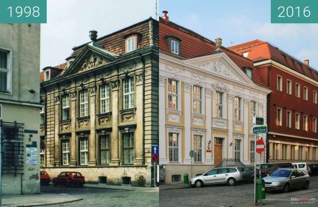 Before-and-after picture of Pałac Klasycystyczny between 1998 and 2016