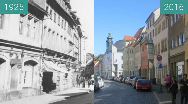 Before-and-after picture of Marktstraße between 1925 and 2016-Aug-16