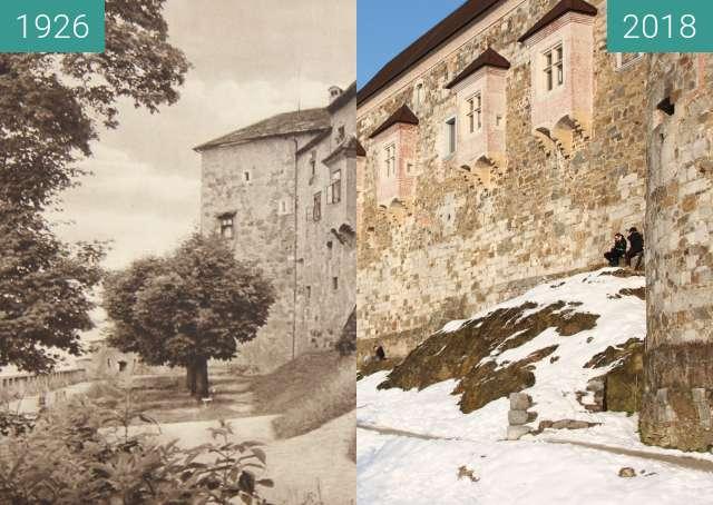Vorher-Nachher-Bild von Ljubljana Castle 1926 zwischen 1926 und 14.02.2018