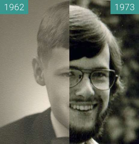 Before-and-after picture of vom Schüler zum Studenten between 1962 and 1973