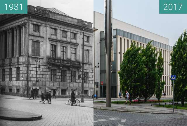 Before-and-after picture of Biblioteka Raczynskich between 1931 and 2017-Jul-10