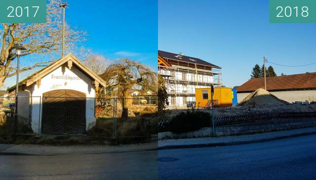 Before-and-after picture of Gstadt am Chiemsee between 2017-Dec-24 and 2018-Nov-11