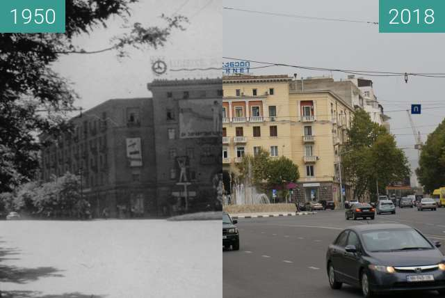 Before-and-after picture of Vake District in Tbilisi between 1950 and 2018-Sep-10