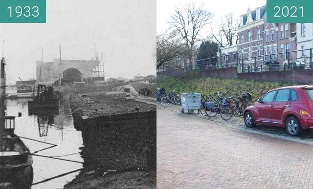 Vorher-Nachher-Bild von Waalkade 1933 building bridge zwischen 1933 und 09.01.2021
