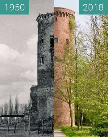 Before-and-after picture of Burg_Uda between 1950 and 2018