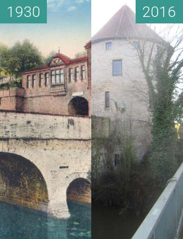 Before-and-after picture of Vitischanze between 1930 and 2016-Feb-07