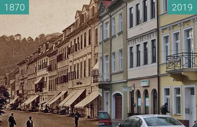 Before-and-after picture of Ulice U Kamenných lázní between 1870 and 2019-Dec-20