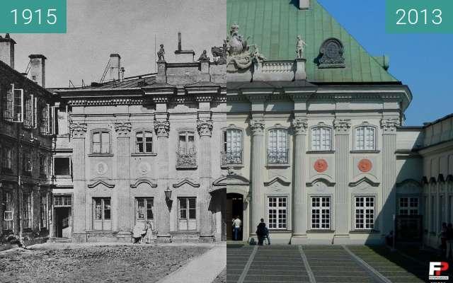 Vorher-Nachher-Bild von Copper roof Palace zwischen 1915 und 2013