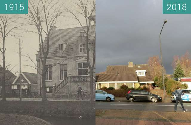 Before-and-after picture of The town hall of heerhugowaard between 1915 and 2018-Dec-10