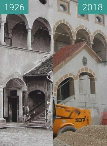 Before-and-after picture of Stara Grofija, Celje, Slovenia, 1926 vs. 2018 between 1926 and 2018-Jul-29