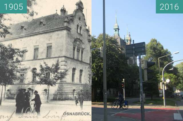 Before-and-after picture of Government Building/Police department between 1905 and 2016-Aug-31